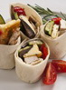 Haloumi and roasted vegetable wraps