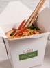 Prawn and vegetable egg-fried noodles in boxes - noodle bar