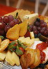 Cheese and assorted fruit platter