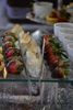 Nutello phyllo parcels and chocolate dipped strawberries